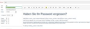 Ihr Passwort im eShop