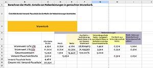 Versandpauschale+MwSt-Versandnebenkosten