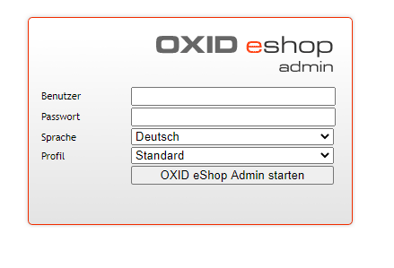 Oxid Sop Admin